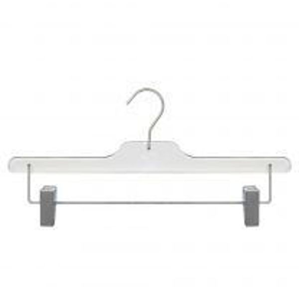 """Picture of Acrylic Skirt/Pant Hanger - 14"""" Clear 12pk"""